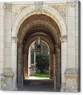 Archway To Courtyard Acrylic Print