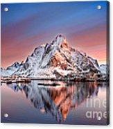 Arctic Dawn Over Reine Village Acrylic Print