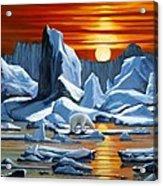 Arctic Sunset Polar Bear Acrylic Print