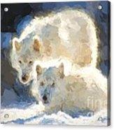 Arctic Wolves - Painterly Acrylic Print