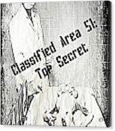Area 51 Declassified Acrylic Print