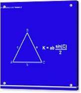 Area Of An Isosceles Triangle Dk Blue/wht Acrylic Print