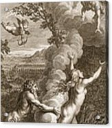 Arethusa Pursued By Alpheus And Turned Acrylic Print