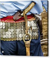 Argentina Gaucho Coin Belt Acrylic Print