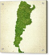 Argentina Grass Map Acrylic Print by Aged Pixel