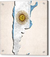 Argentina Map Art With Flag Design Acrylic Print