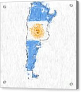 Argentina Painted Flag Map Acrylic Print