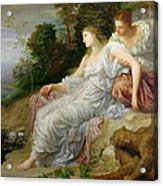 Ariadne In Naxos, 1875 Oil On Canvas Acrylic Print