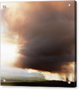 Ariel View Of Burning Sugar Cane Fields Acrylic Print