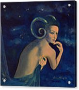 Aries From Zodiac Series Acrylic Print by Dorina  Costras