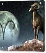 Aries Zodiac Symbol Acrylic Print