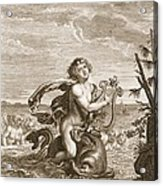 Arion Preserved By A Dolphin, 1731 Acrylic Print