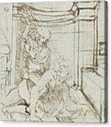 Aristotle And Phyllis Acrylic Print