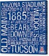 Arizona College Colors Subway Art Acrylic Print