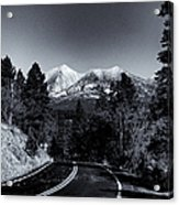 Arizona Country Road In Black And White Acrylic Print