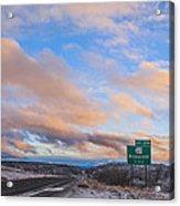 Arizona Highway Sunset Acrylic Print by Anthony Citro