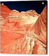 Arizona Sandstone Waves And Lines Acrylic Print