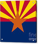 Arizona State Flag Authentic Color And Scale Version Acrylic Print
