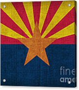 Arizona State Flag Acrylic Print by Pixel Chimp