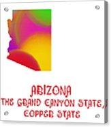 Arizona State Map Collection 2 Acrylic Print