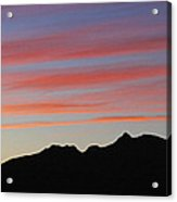 Arizona Sunset At Mt Ord Acrylic Print