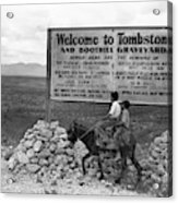 Arizona Tombstone, 1937 Acrylic Print