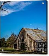Arkansas Barn And Blue Skies Acrylic Print by Jim McCain