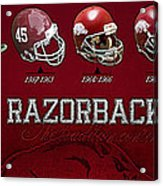 Arkansas Razorbacks Football Panorama Acrylic Print by Retro Images Archive