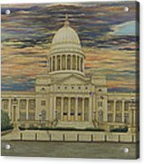 Arkansas State Capitol Acrylic Print by Mary Ann King