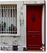 Arles House With Red Door Dsc01806  Acrylic Print