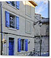 Arles With Bicycle And Moai Dsc01802   Acrylic Print