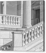 Arlington Memorial Amphitheater  Bw Acrylic Print