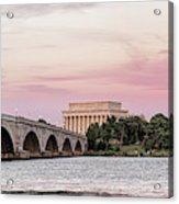Arlington Memorial Bridge With Lincoln Acrylic Print