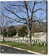 Arlington National Cemetery Panorama 2 Acrylic Print by Metro DC Photography