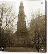 Arlington Street Church Unitarian Universalist Boston Massachusetts Circa 1900 Acrylic Print