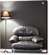 Armchair And Floor Lamp Acrylic Print