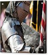 Armored Joust Knight Acrylic Print