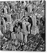 Army Air Corp Over Manhattan Acrylic Print