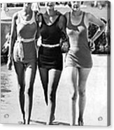 Army Bathing Suit Trio Acrylic Print