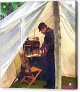 Army - Civil War Officer's Tent Acrylic Print
