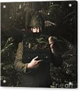 Army Soldier With Security Screen Saver Acrylic Print