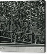 Army Test The Coronation Stands Outside The Abbey Acrylic Print
