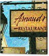 Arnauds New Orleans_oil Digital Art Acrylic Print