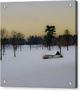 Aronimink Golf Club In The Snow Acrylic Print
