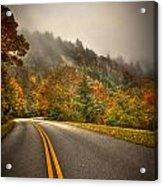 Around The Bend Clouds Along The Blue Ridge Parkway Acrylic Print