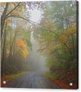 Around The Bend Acrylic Print by Judy  Waller
