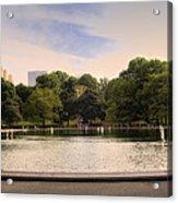 Around The Central Park Pond Acrylic Print