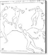 Around The Horn With Matisse: Matisse's Dancers Acrylic Print