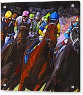Around The Turn They Come Acrylic Print