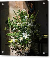 Arrangement Of White Flowers Acrylic Print